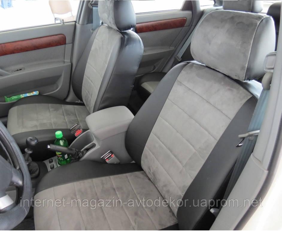 Авточехлы экокожа+алькантара для Audi А-6 (С6) 2004-2011 г.