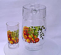 """Набор кувшин со стаканами """"Летняя ягода"""""""