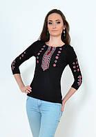 Женская вышивка в красно-черный орнамент