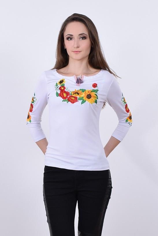 Вышиванка с модной цветочной композицией  продажа 0bf1cc082918c