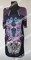 Оригинальная женская туника-платье больших размеров