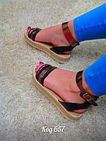 Босоножки на низком ходу сандали, фото 1