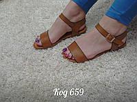 Босоножки на низком ходу сандали коричневые