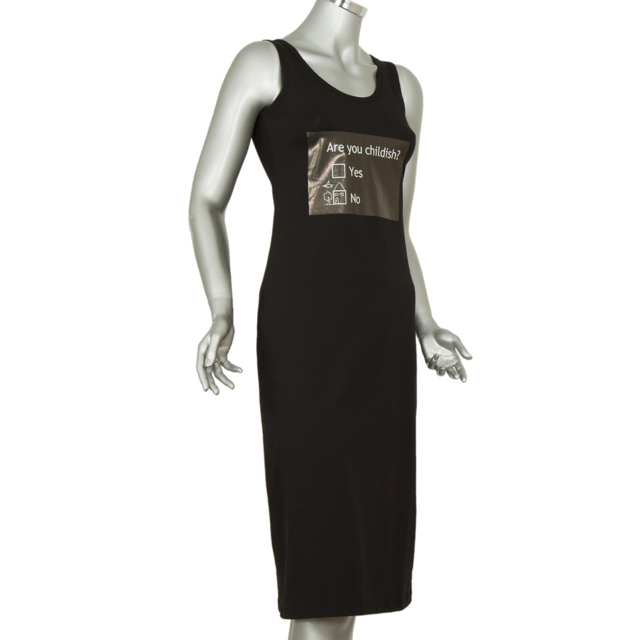 Чёрное платье - майка
