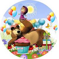 Вафельная картинка для тортов Маша и Медведь 34