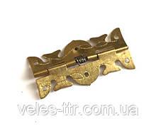 Петля для шкатулок с пружиной золото 25х13 мм