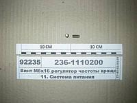 Винт М6х16 регулятор частоты вращения (пр-во ЯЗДА)