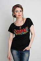 Симпатичная вышитая женская футболка