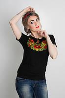 Молодежная футболка женская с вышивкой