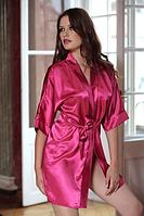 Розовый женский халатик Satyn 90 pinkowyi