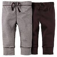 Штаны хлопковые Carters для мальчика 2 шт. 9мес