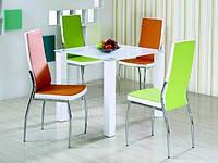 Стол обеденный стеклянный MERLOT квадратный белый Halmar