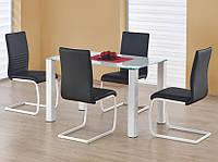 Стол обеденный стеклянный MERLOT белый Halmar