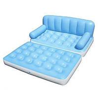 Универсальный надувной диван кровать 5 в 1, BW 75038, насос, 188*152см, высота 64см