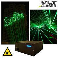 Лазерный проектор для шоу (V поколение). Зеленый, 1200мвт. Софт и контроллер. Наличие LAN, DMX, ILDA, SD