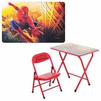Детский раскладной столик и стульчик DT 18-12, красного цвета, металлический каркас
