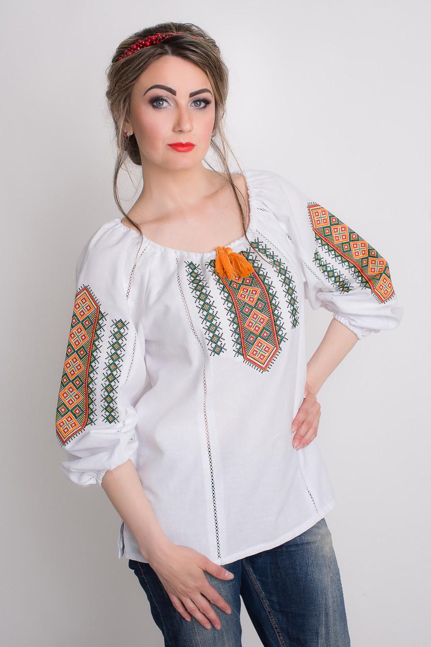 Оригинальная женская блуза с вышивкой