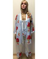 Комплект штаны ,майка и халат KR-1823 №277-1