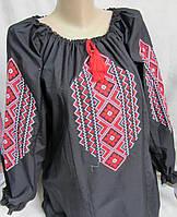 """Блуза черная с вышивкой """"Геометрия"""", фото 1"""