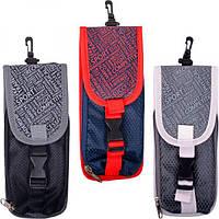 Пенал сумочка (1 отделение, 2 кармана с карабином)
