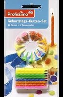 Profissimo Geburtstags-Kerzen-Set - Свечи для дня рождения 24 шт + 12 держателей