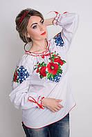 Стильная женская блуза с вышивкой
