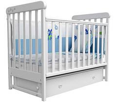 Детская кроватка Верес Соня ЛД12 маятник с ящиком белый