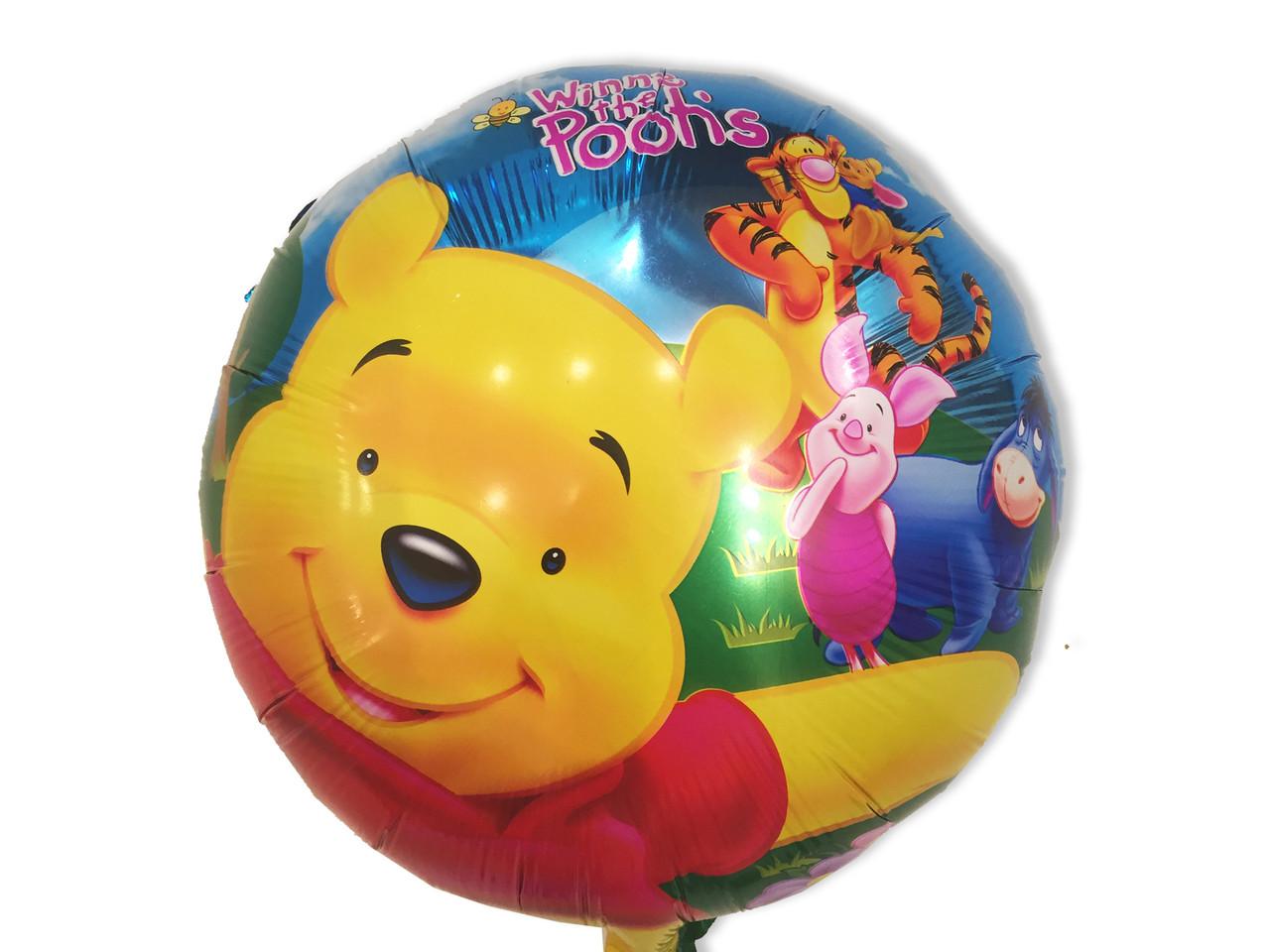 Повітряна кулька з фольги Вінні і Тигри діаметр 45 див.