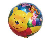 Воздушный шарик из фольги Винни и Тигра диаметр 45 см.