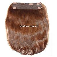 Натуральные славянские волосы на заколках 40 см. Оттенок №8. Масса: 90 грамм., фото 1