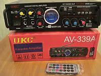 Аудио Усилитель звука UKC 339+караоке ,радио ,SD,USB
