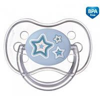 Пустышка силиконовая симметрическая Newborn baby 6-18 м.