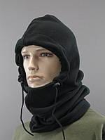 Баф (маска, шарф, балаклава) утепленный флисовый, черный