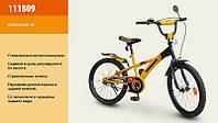"""Велосипед 18"""" детский 111809 (1) Хаммер, со звонком, зеркалом, вставками в колесах"""