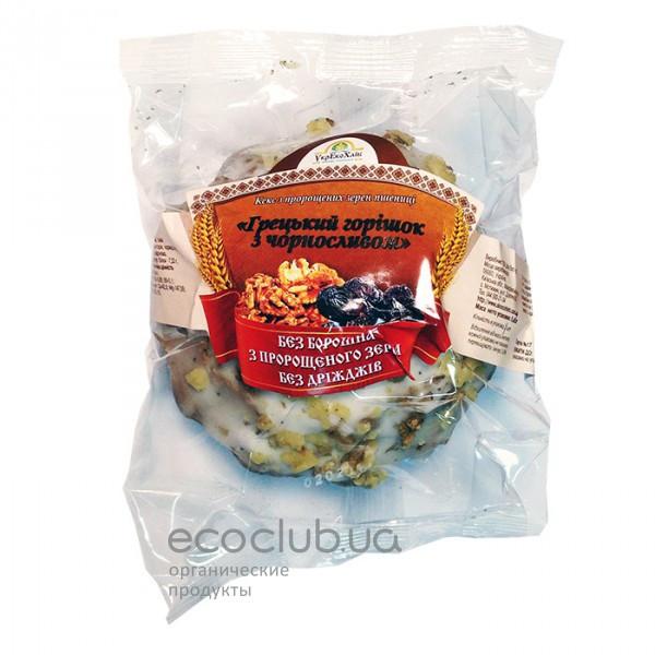 Кекс из пророщенной пшеницы Грецкий орешек с черносливом Укр Эко Хлеб 200г