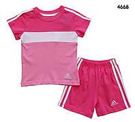 Летний костюм Adidas для девочки. 2, 4 года