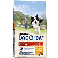 Корм для собак Dog Chow Active, с курицей, 2,5 кг 12233136
