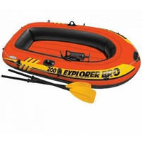 Надувная лодка Explorer 200 PRO Set Intex 58357(196х102х33 см)