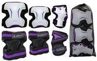 Защита спортивная для взрослых Zel SK-4677V Grace (наколенники, налокотники, перчатки) фиолетовая