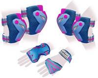Защита для катания (комплект) Zel Perfection SK-4685BP сине-розовая