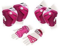 Защита для катания (комплект) Zel Perfection SK-4685PW розово-белая