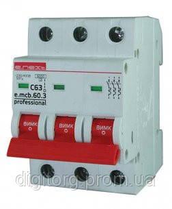 Автоматический выключатель E.NEXT - 3p.10С 4,5кА