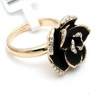 Кольцо GOLD ROSE ювелирная бижутерия золото 18К декор Swarovski