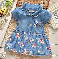 Модне джинсове пляття для дівчаток-немовлят на літо