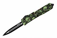 Нож выкидной Зеленый Шершень с фронтальным выбросом клинка.9096