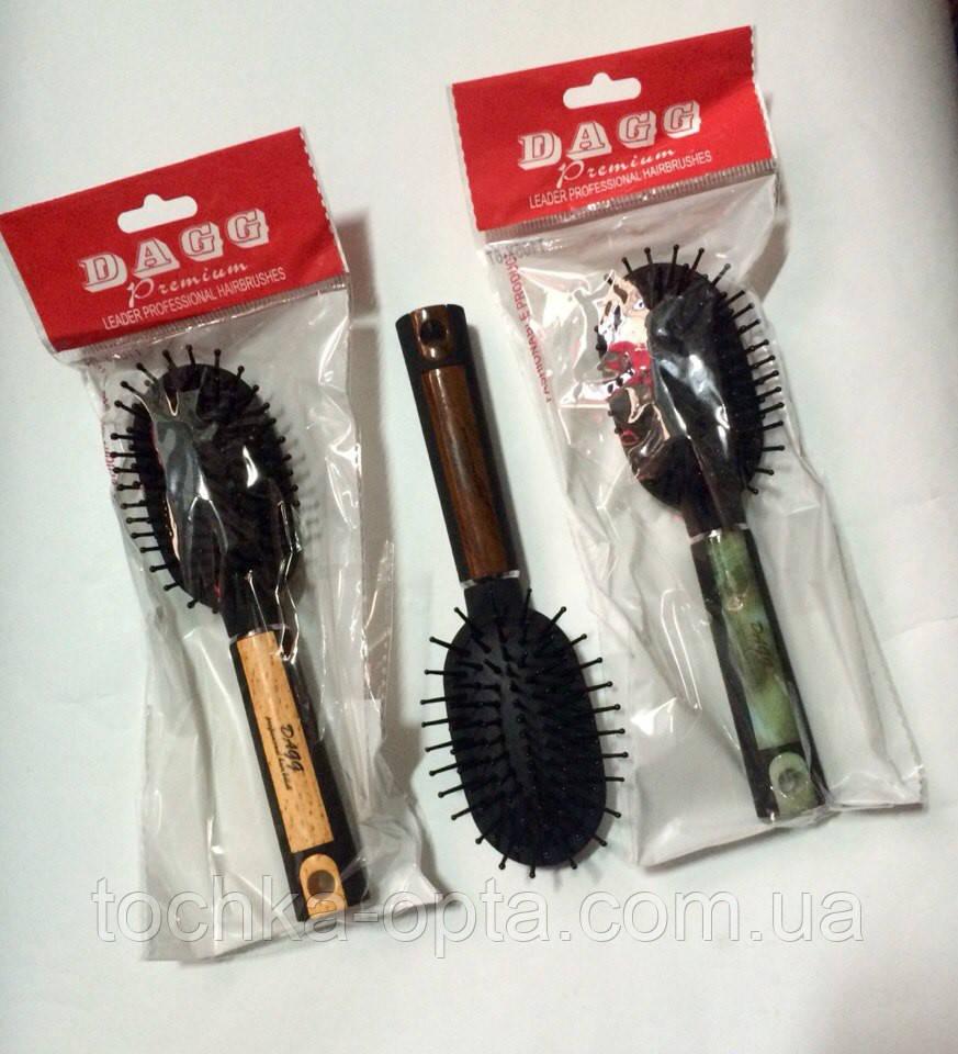 """Массажная щётка для волос Dagg """"premium""""маленькая T105x-6t"""