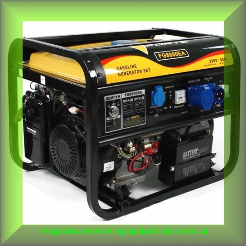 Электрогенератор бензиновый Forte FG8000EA