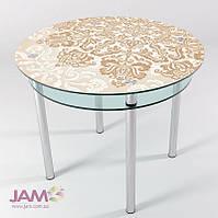 Стол кухонный круглый с фото КТ-06