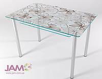 Недорогой стеклянный стол на кухню КТ-07