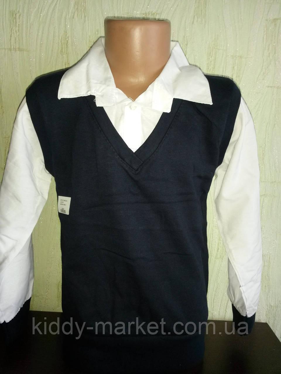 Рубашка-обманка  для мальчика 128-134,134-140